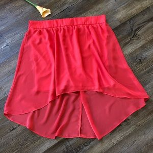 Maurices hi-low coral skirt